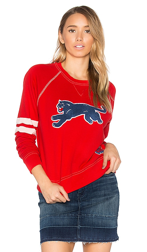 MOTHER The Super Square Second Base Sweatshirt in Red