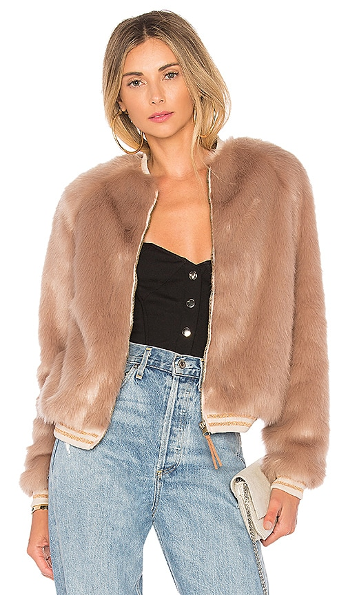 The Letterman Faux Fur Jacket