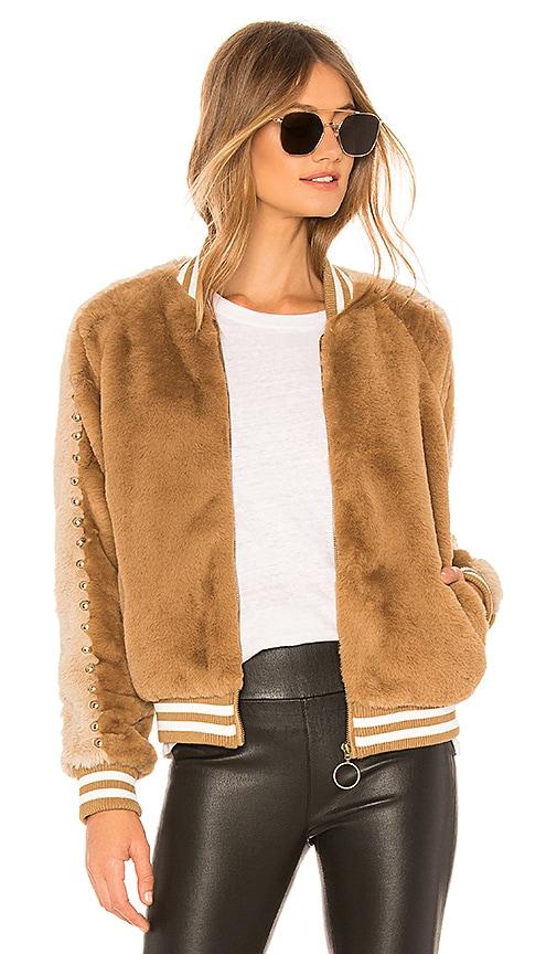 The Letterman Faux Fur Jacket