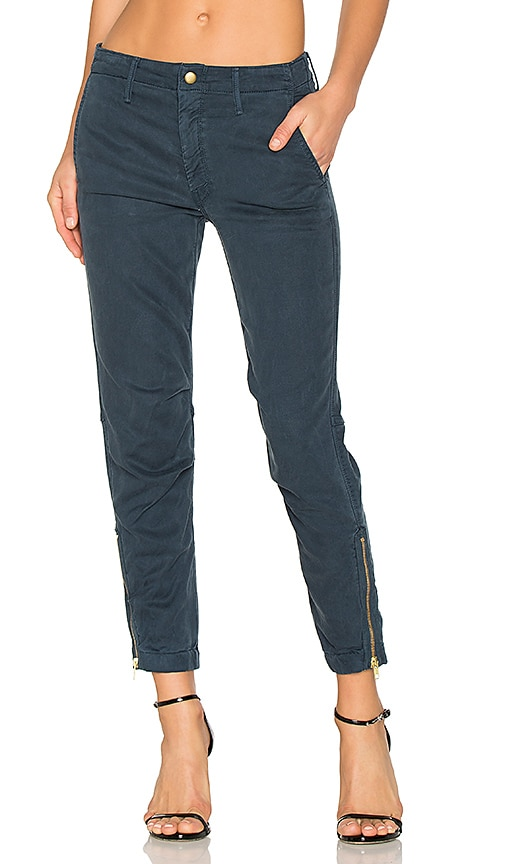 MOTHER The Misfit Crop Pant in Navy