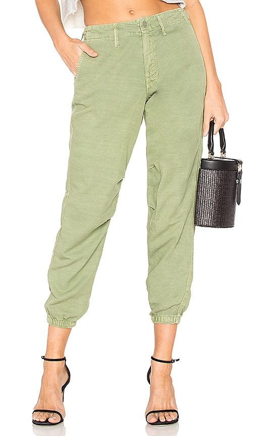 MOTHER The No Zip Misfit Pant in Green