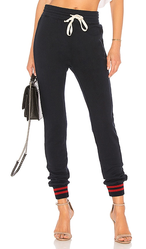 MOTHER High Waist Slim Gym Pant in Navy