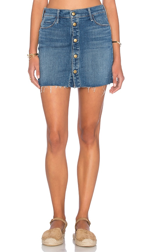 MOTHER The Snap Down Mini Skirt in Heart of Glass
