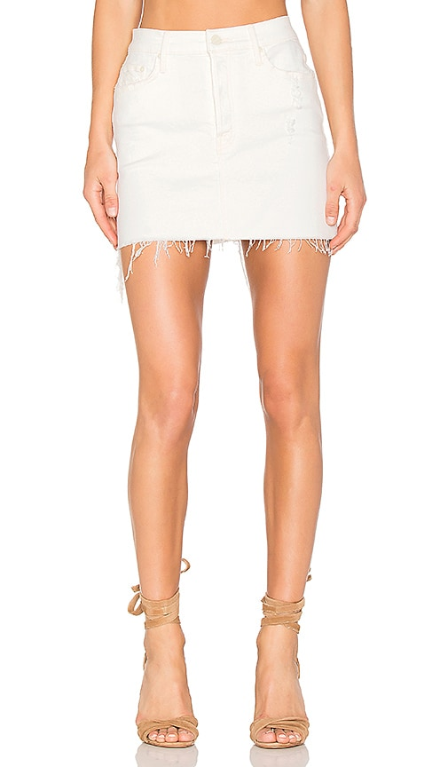 MOTHER The Vagabond Mini Fray Skirt in Tea and Biscuits