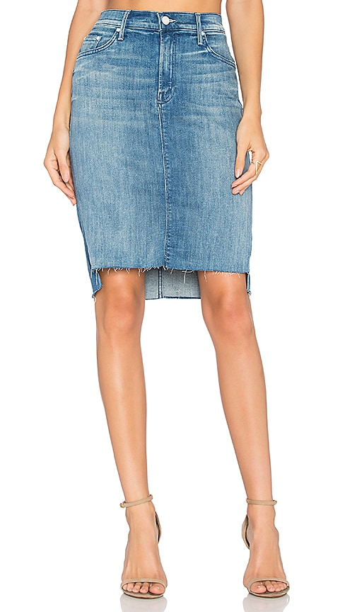 The Peg Step Fray Skirt