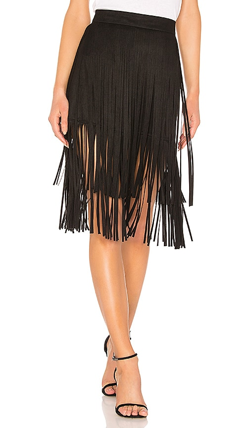 The Fringe Faux Suede Skirt