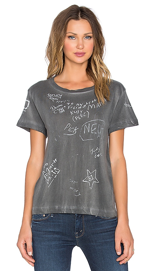 MOTHER The Boxy Goodie Goodie Tee in Charcoal