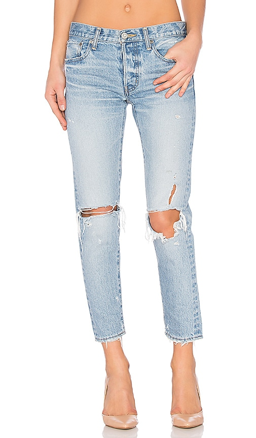 Moussy Sanford Distressed Skinny in Light Blue