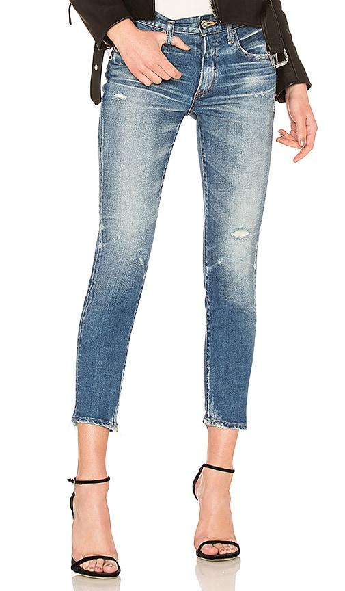 Moussy Vintage Velma Skinny Jean in Blue
