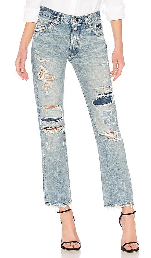 Moussy Vintage Jones Straight Jean in Light Blue