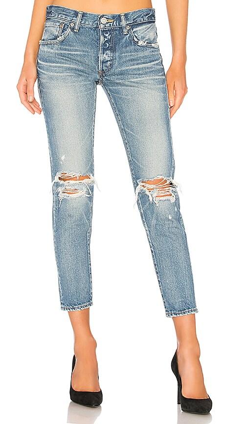 Moussy Vintage Latrobe Tapered Jean in Light Blue
