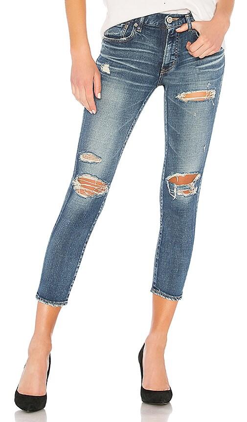Moussy Vintage Cody Skinny Jean in Blue