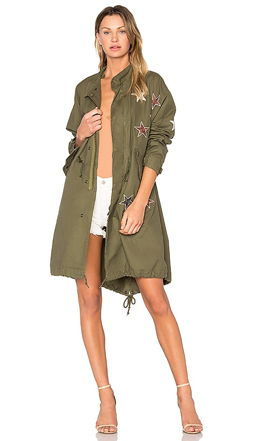 MPD BOX Parka With Stars in Olive
