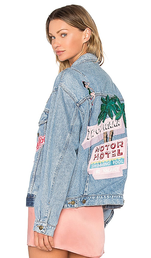 MPD BOX Tropicana Denim Jacket in Blue