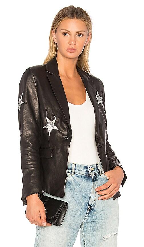 MPD BOX Star Leather Blazer in Black