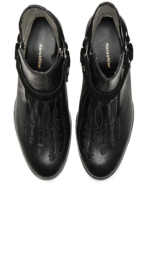 Mara & Mine Louise Jem Skull Boot in Black