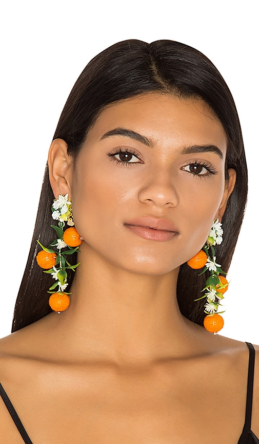 Fiesta Orange Tree Earrings