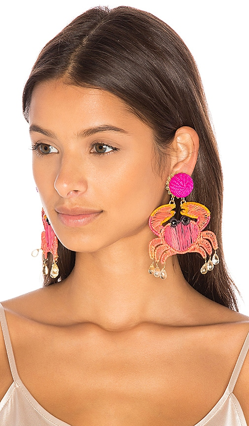 Mercedes Salazar Cangrejo Crab Earrings in Pink