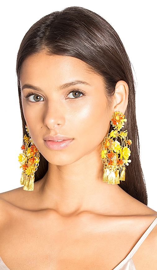 Floral Tassel Earring
