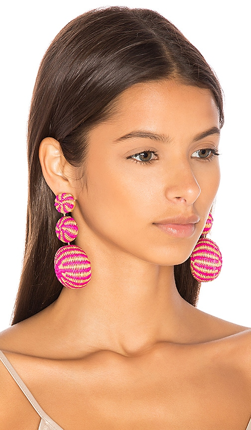 Mercedes Salazar Fiesta Tropical Earrings in Pink