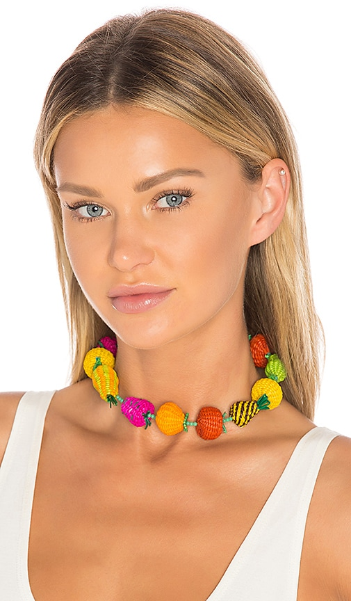Mercedes Salazar Fruits Single Choker in Red