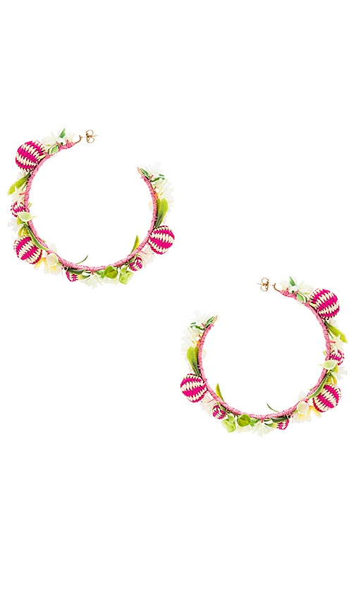 Mercedes Salazar Margaritas Earrings in Pink