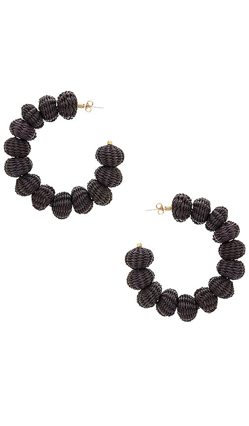 Mercedes Salazar Candongas Earrings in Black