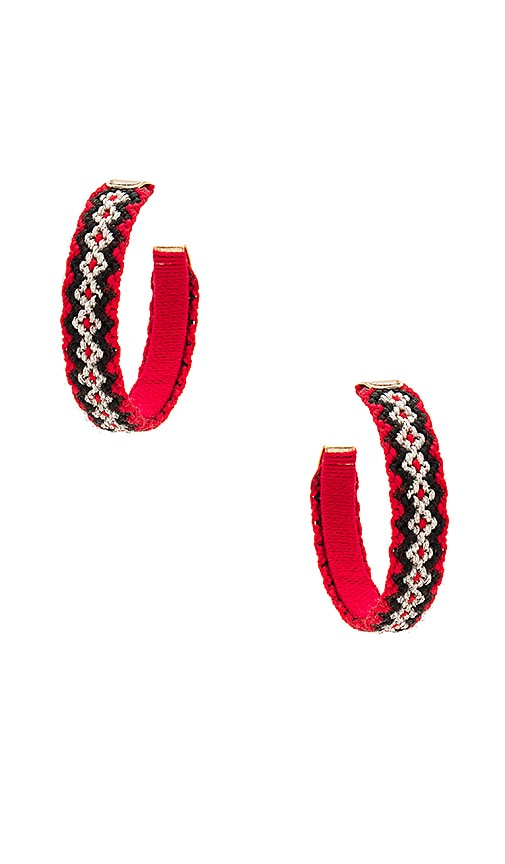 Mercedes Salazar Candongas Tejidas Earrings in Red