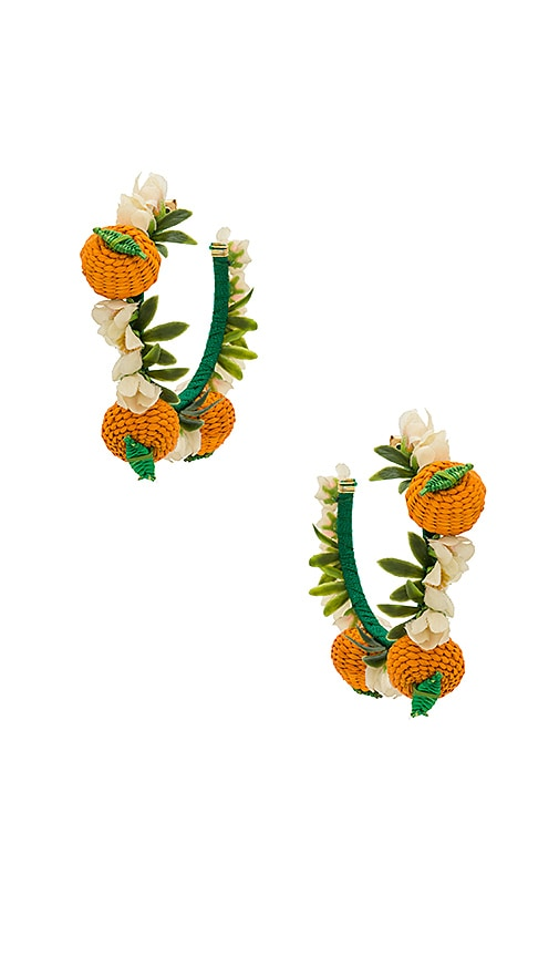 Mercedes Salazar Naranjas Earrings in Orange