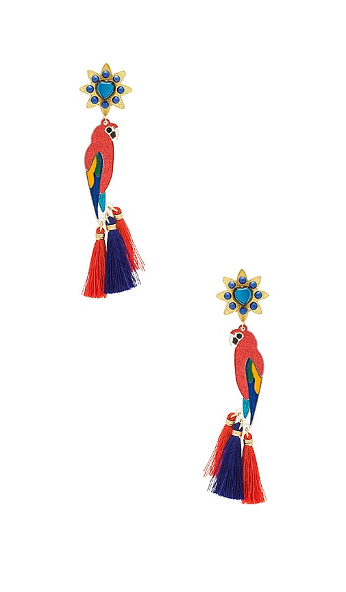 Mercedes Salazar Guacamaya Macao Petite Earring in Red