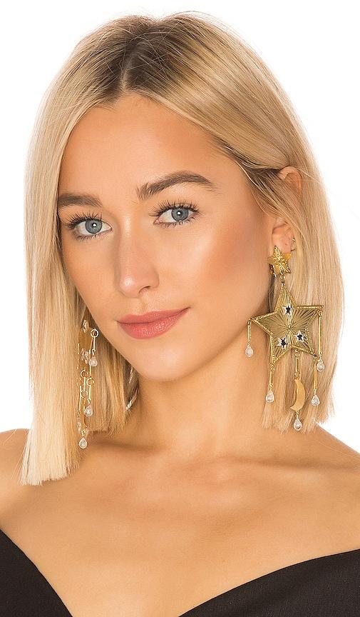 Estrella Fugaz Blanca Earrings