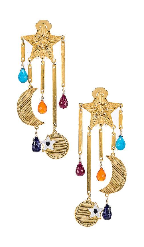 Estrella Magica De Arcoiris Earrings