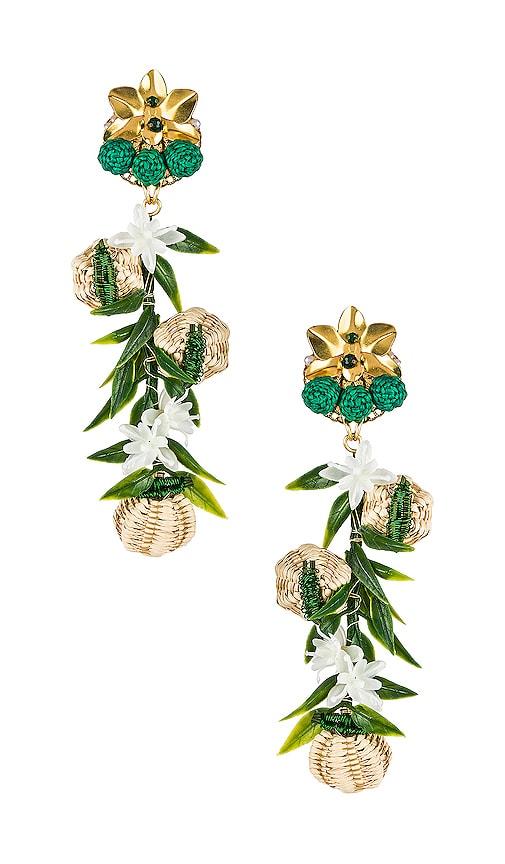 Woven Flower Earrings