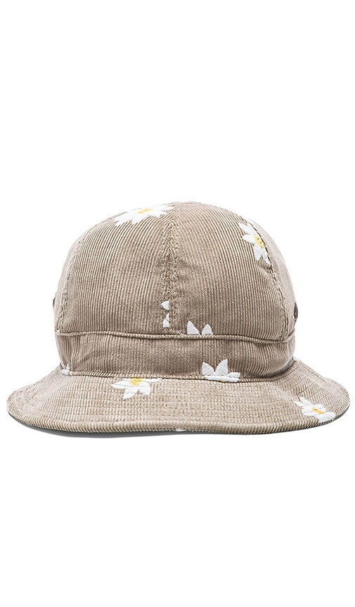 Mark McNairy New Amsterdam Bucket Hat in Slate Cord Daisy