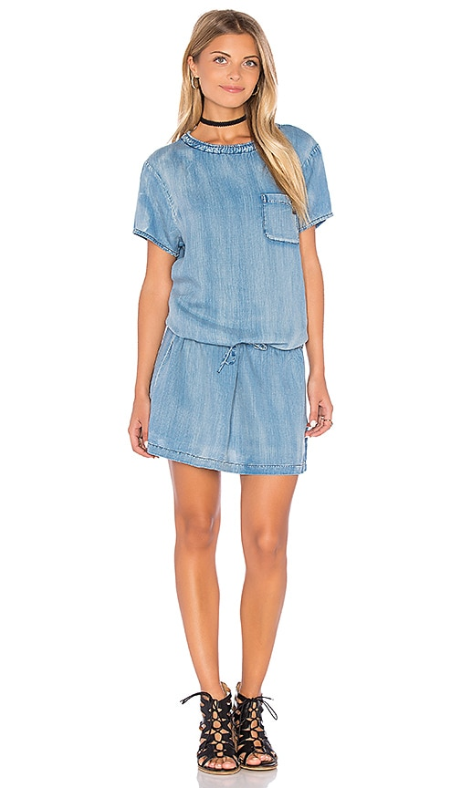 Maison Scotch Shift Dress in Chambray