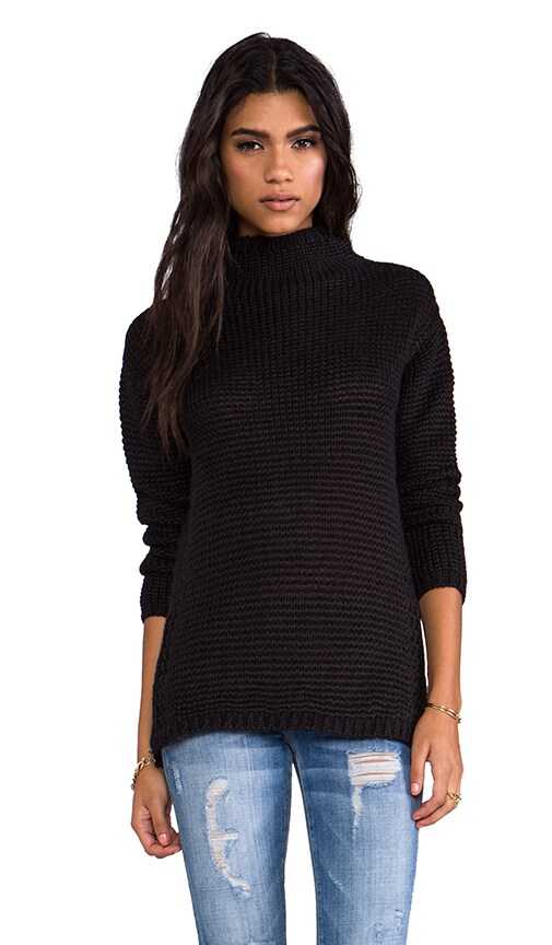 Knitted Funnel Neck Sweater