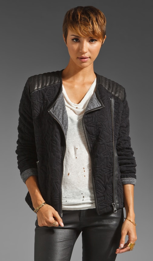 Star Quilted Biker Jacket