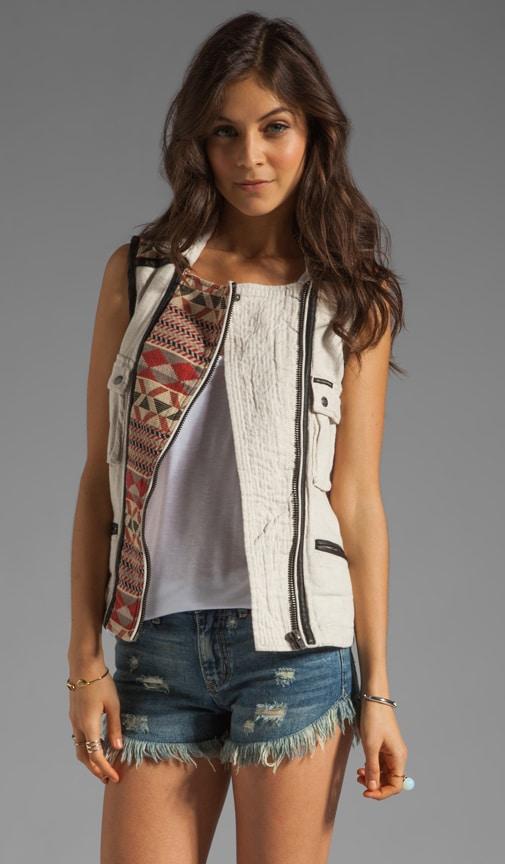 Washed Linen Vest