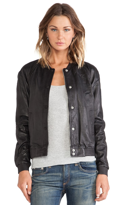 Basic Leather Bomber