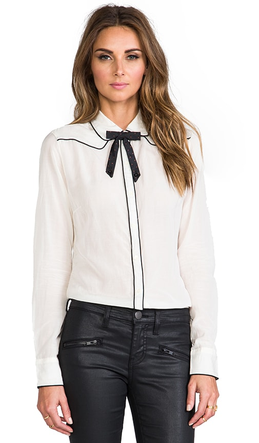 Long Sleeve Blouse with Bow