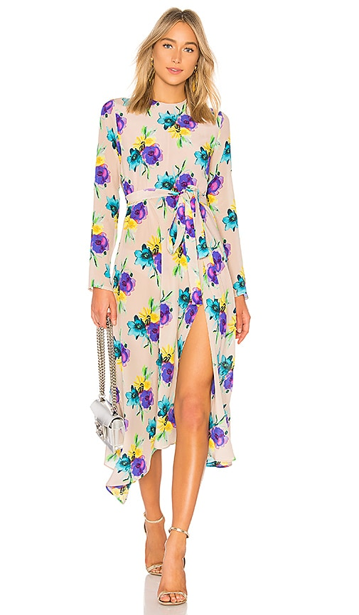 Msgm Floral Midi Dress In Neutral Revolve You know it's springtime when you're dying to wear a floral dress. msgm floral midi dress in neutral revolve