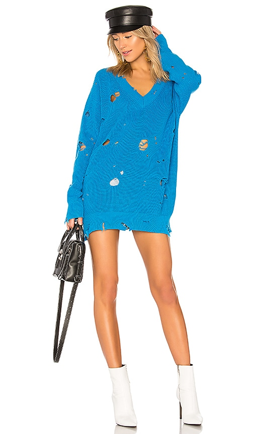 MSGM Holey Sweater in Blue