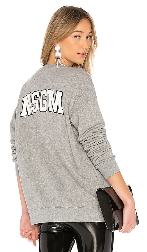 MSGM Back Logo Sweatshirt in Gray