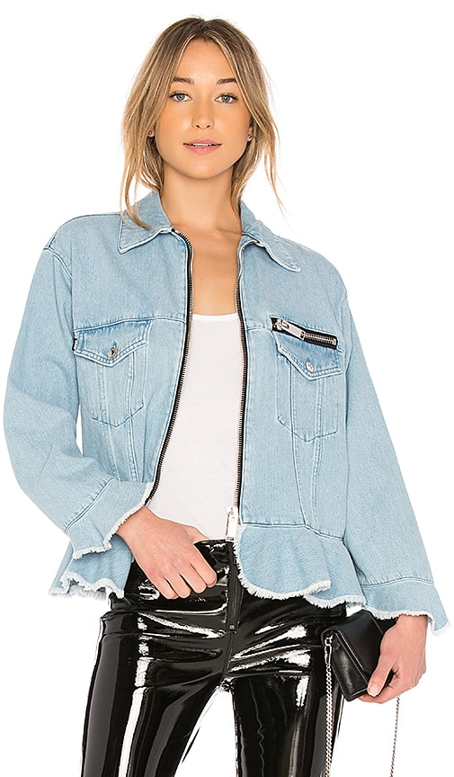 MSGM Denim Jacket in Denim Light