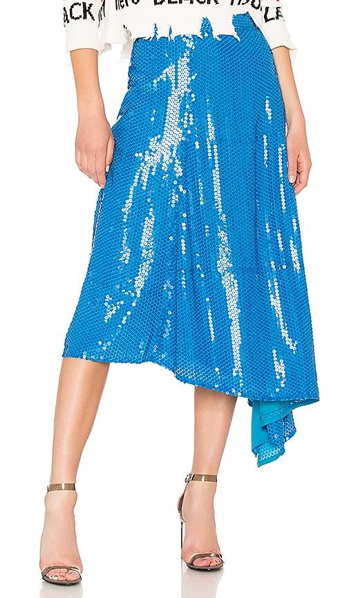 MSGM Sequin Skirt in Blue