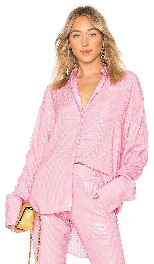 MSGM Sequin Top in Pink