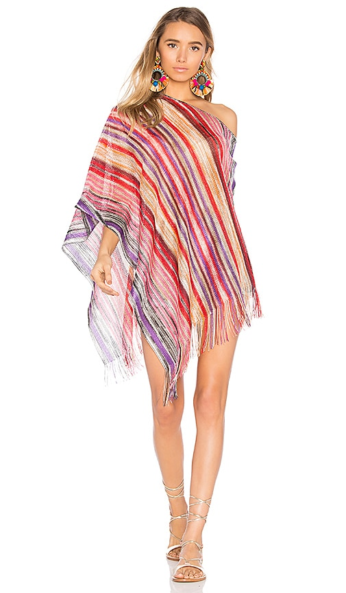 Missoni Poncho in Red