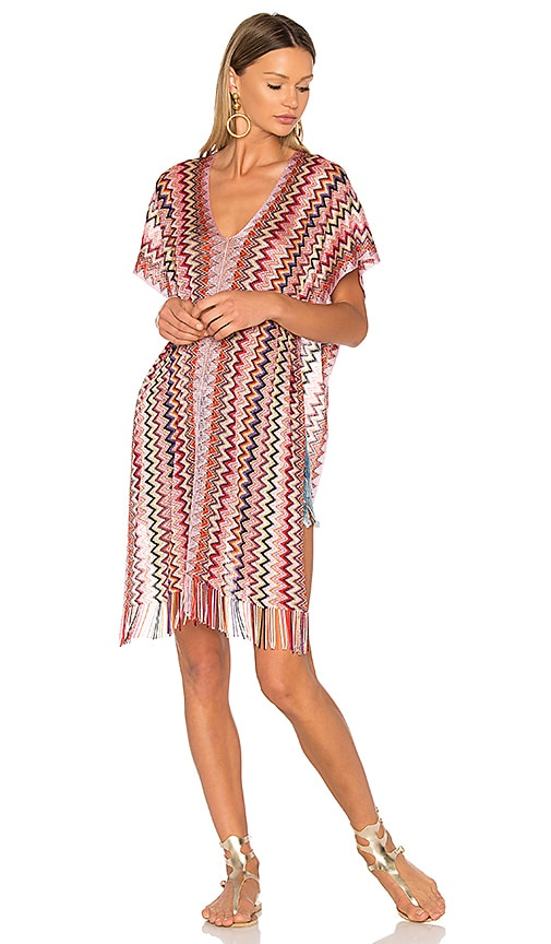 Missoni Short Poncho in Red