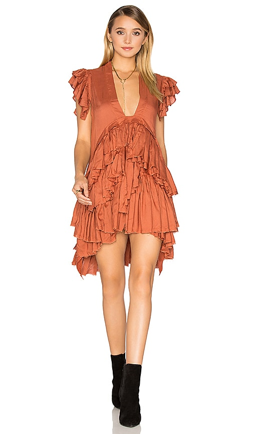 Maria Stanley Frades Dress in Burnt Orange