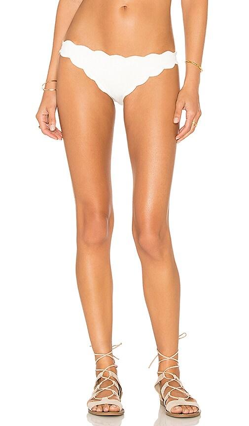 Marysia Swim Scallop Bikini Bottom in Off White